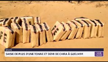Maroc: saisie de plus d'une tonne et demi de chira à Guelmim