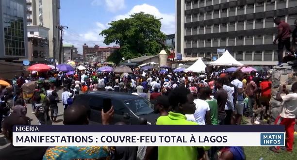 Manifestations: couvre-feu total à Lagos