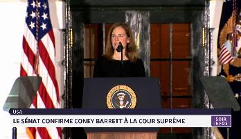 Etats-Unis: Le Sénat confirme Amy Coney Barrett à la Cour suprême