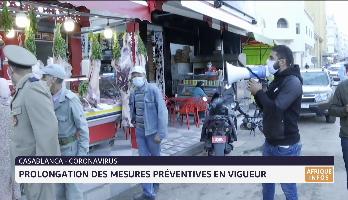Casablanca/Coronavirus: Prolongation des mesures préventives en vigueur