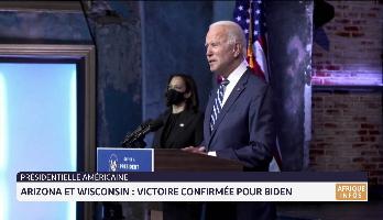 Présidentielle américaine: victoire confirmée pour Biden en Arizona et le Wisconsin