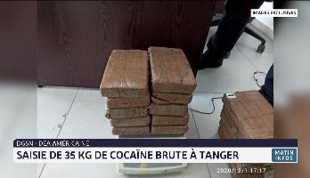 DGSN-DEA américaine: saisie de 35 kg de cocaïne brute à Tanger