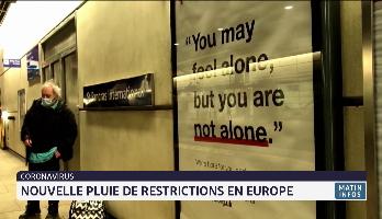 Covid-19: nouvelle pluie de restrictions en Europe