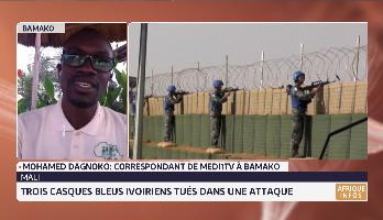 Mali: trois casques bleus ivoiriens tués dans une attaque