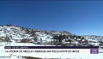 Province de Larache: la région de Moulay Abdessalam recouverte de neige