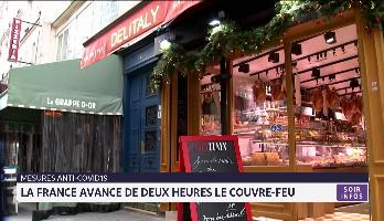 Mesures anti-covid: la France avance de deux heures le couvre-feu