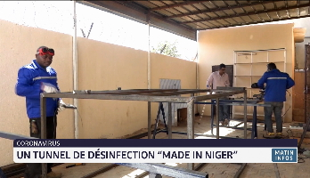 "Coronavirus: un tunnel de désinfection ""Made in Niger"""