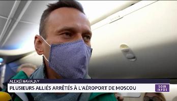 Alexeï Navalny: plusieurs alliés arrêtés à l'aéroport de Moscou