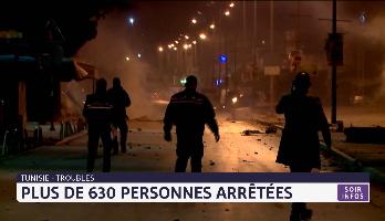 Tunisie:  plus de 630 personnes arrêtées