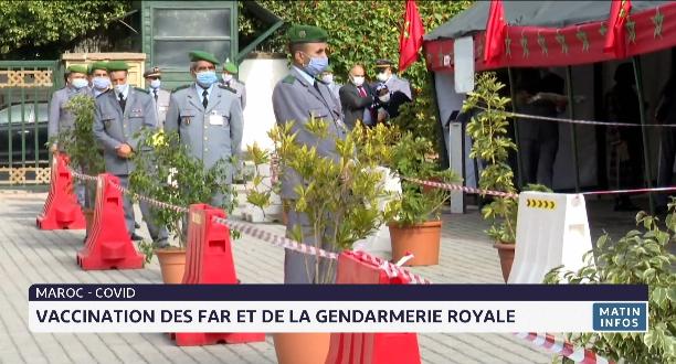 Maroc-Covid: vaccination des FAR et de la Gendarmerie royale