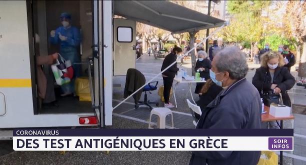 Coronavirus: des tests antigéniques en Grèce
