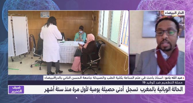 ضيف التحرير.. عبد الله بادو يتحدث عن تلقيح المغرب لنصف مليون شخص في أقل من أسبوعين