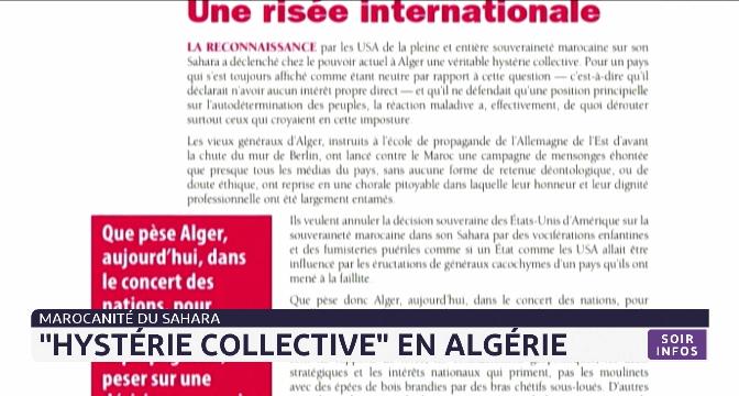"""Marocanité du Sahara: """"hystérie collective"""" en Algérie"""