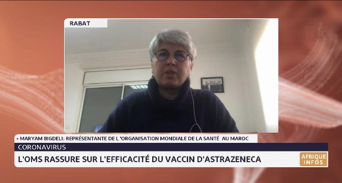 Covid-19: l'OMS rassure sur l'efficacité du vaccin d'AstraZeneca. Le point avec Maryam Bigdeli