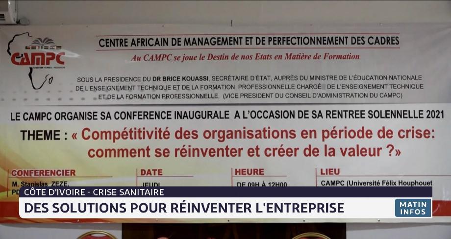 Côte d'Ivoire-crise sanitaire: des solutions pour réinventer l'entreprise