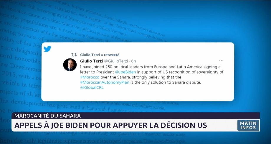 Marocanité du Sahara: appels à Joe Biden pour appuyer la décision US