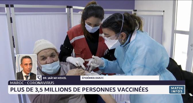 Covid-19: plus de 3,5 millions de personnes vaccinées. Le point avec Jaâfar Heikel