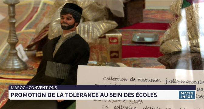 Signature de conventions: promotion de la tolérance au sein des écoles