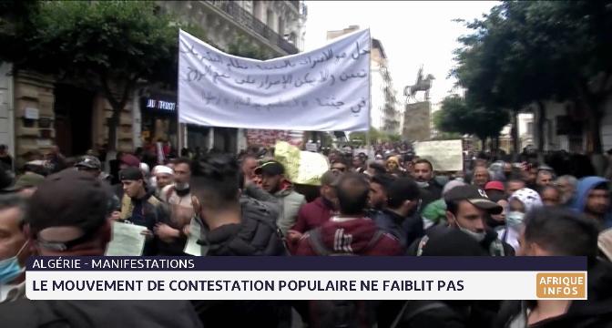 Algérie: le mouvement de contestation populaire ne faiblit pas