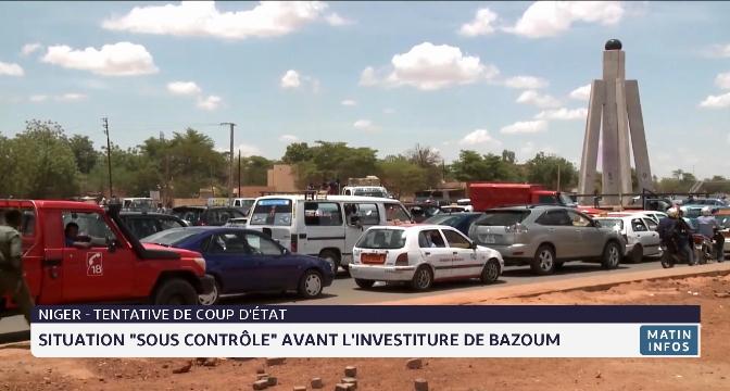"""Niger - Tentative de coup d'État: situation """"sous contrôle"""" avant l'investiture de Bazoum"""