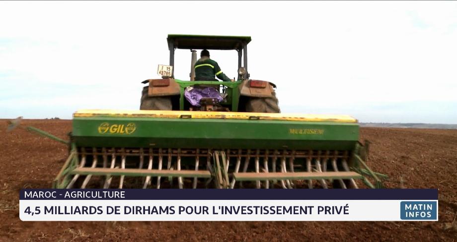 Agriculture: 4,5 MMDH pour les investissements privés en 2021