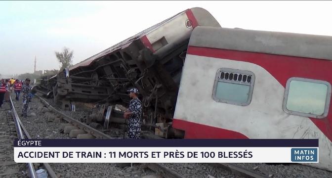 Egypte: 11 morts et près de 100 blessés dans un accident de train