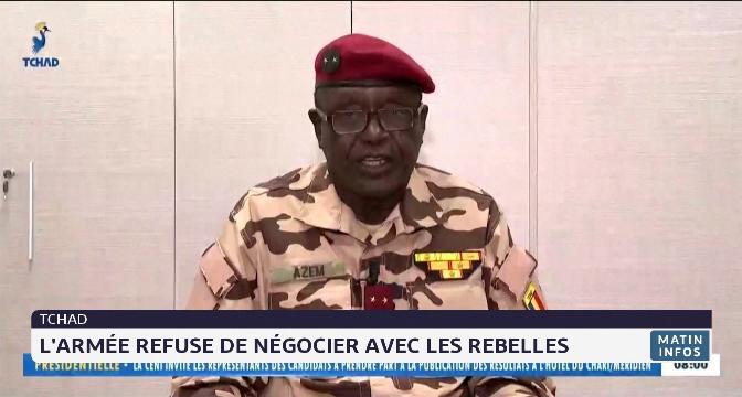 Tchad: l'armée refuse de négocier avec les rebelles