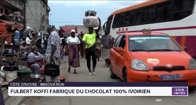 Fulbert Koffi fabrique du chocolat 100% ivoirien