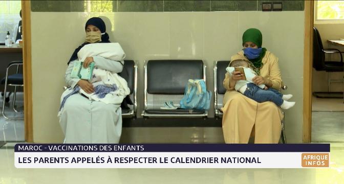 Les parents appelés à respecter le calendrier national de vaccination