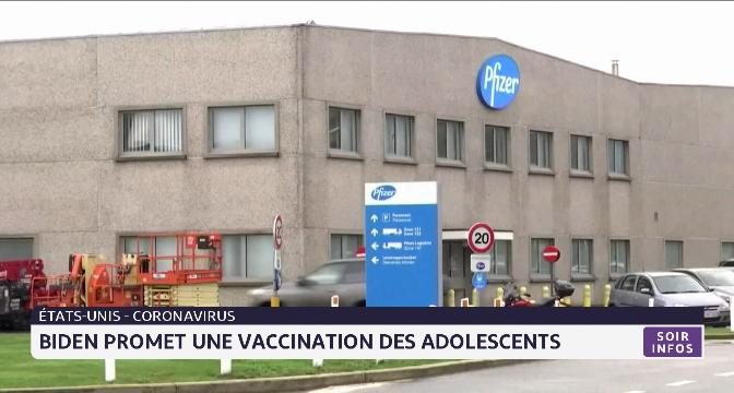 États-Unis: Biden promet une vaccination des adolescents contre le Covid-19