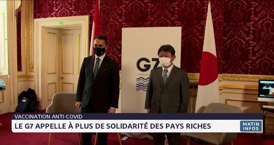 Vaccination anti-Covid: le G7 appelle à plus de solidarité des pays riches