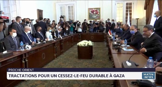 Proche-Orient: tractations pour un cessez-le-feu durable à Gaza