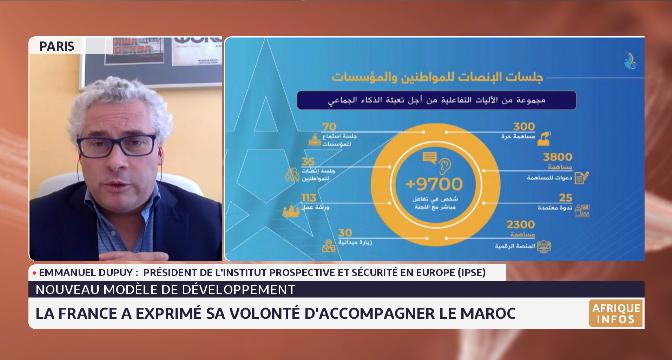 Nouveau modèle de développement: la France a exprimé sa volonté d'accompagner le Maroc. Analyse d'Emmanuel Dupuy de l'IPSE