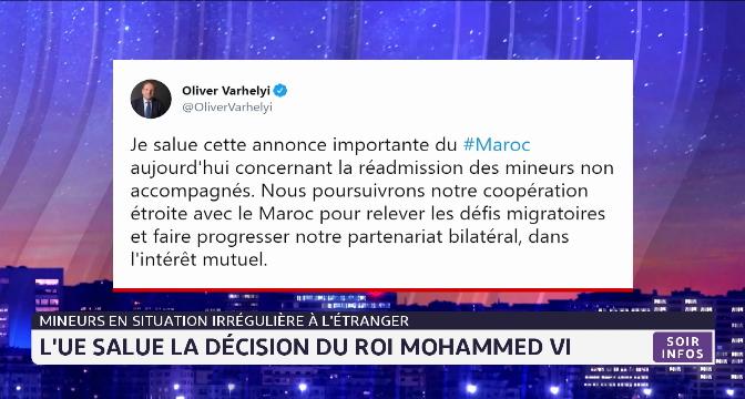 Mineurs en situation irrégulière à l'étranger: l'UE salue la décision du Roi Mohammed VI