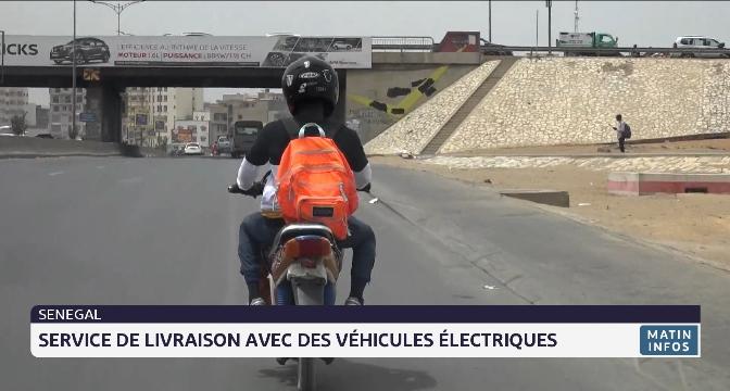 Sénégal: service de livraison avec des véhicules électriques