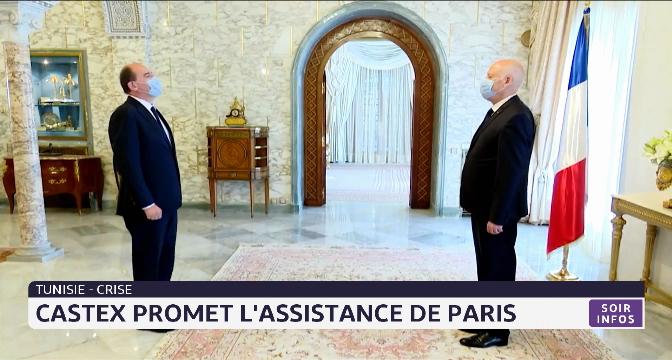 Tunisie: Castex promet l'assistance de Paris