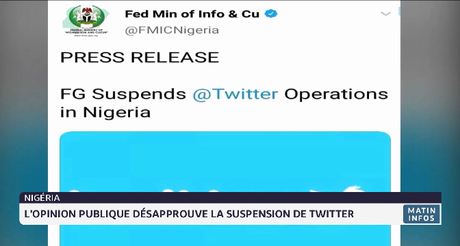Nigéria: l'opinion publique désapprouve la suspension de Twitter