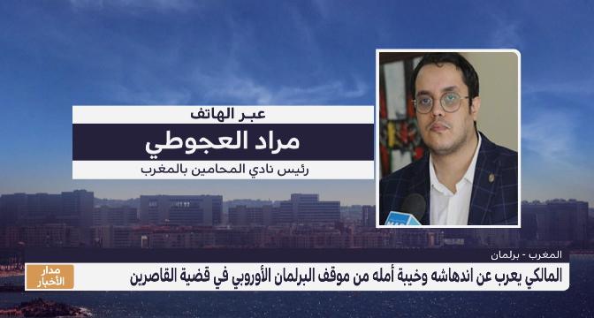 مراد العجوطي : مشروع توصية البرلمان الأوروبي محاولة لابتزاز المغرب وتصريف الأنظار عن أزمة خلقتها إسبانيا