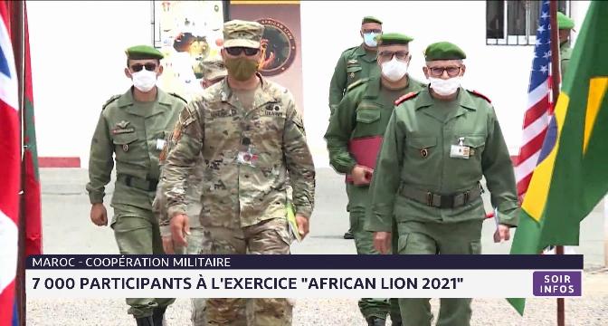 """7 000 participants à l'exercice """"African Lion 2021"""""""