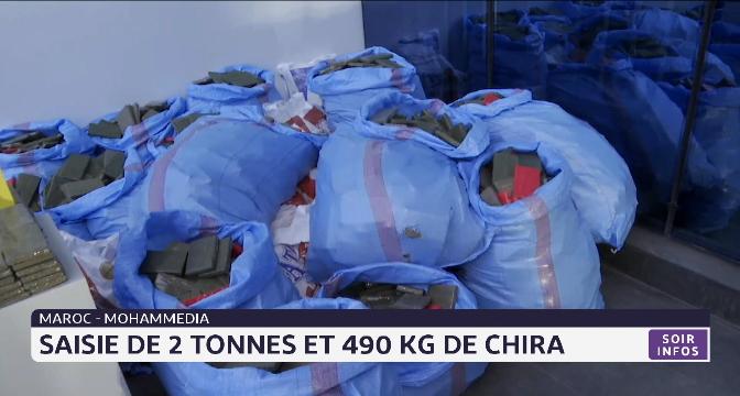 Mohammedia: saisie de 2 tonnes et 490 kg de chira