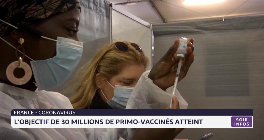 Covid-19 en France: l'objectif de 30 millions de primo-vaccinés atteint