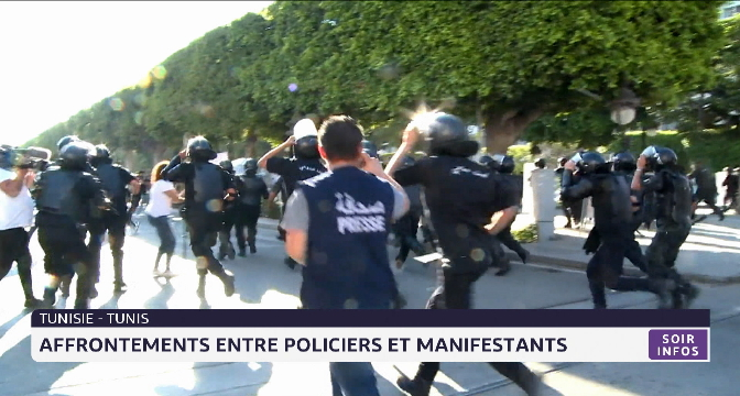 Tunisie: affrontements entre policiers et manifestants