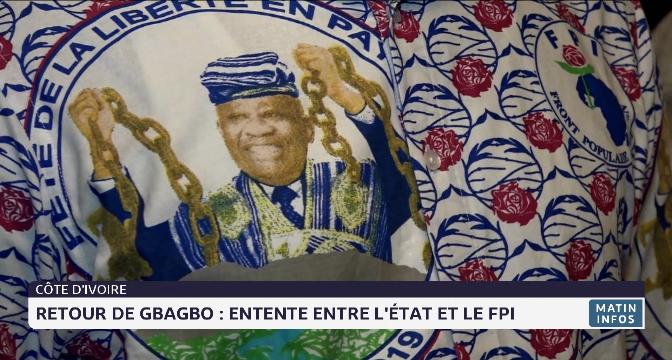 Côte d'Ivoire- retour de Gbagbo: entente entre l'état et le FPI