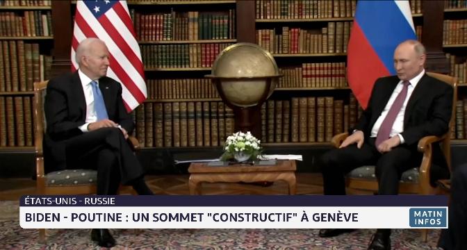 """Biden - Poutine : un sommet """"constructif"""" à Genève"""