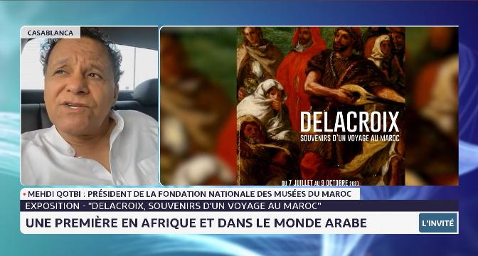 """Exposition """"Delacroix, souvenirs d'un voyage au Maroc"""": entretien avec Mehdi Qotbi, président de la FNM"""