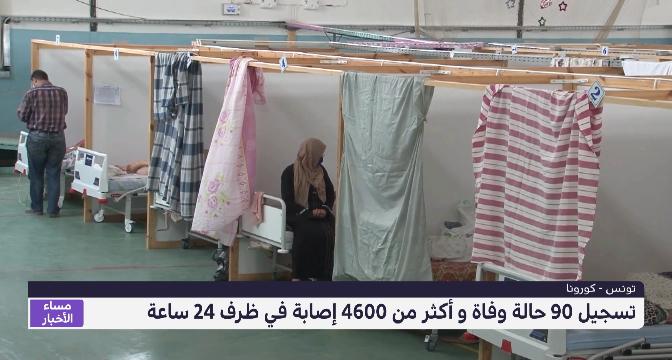 تونس .. تسجيل 90 حالة وفاة و أكثر من 4600 إصابة في ظرف 24 ساعة