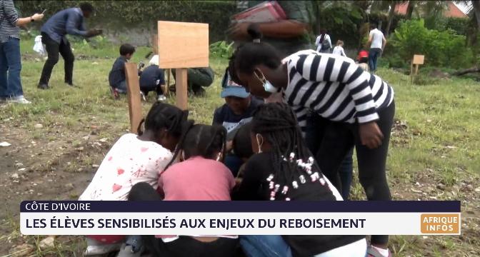 Côte d'Ivoire: les élèves sensibilisés aux enjeux du reboisement