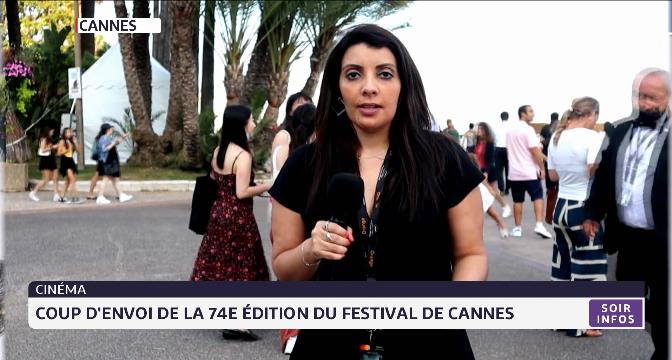 Coup d'envoi de la 74ème édition du Festival de Cannes avec Melinda Mrini