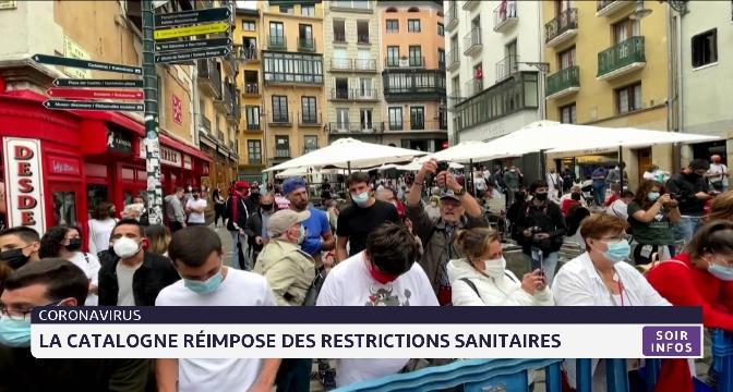 Coronavirus: la Catalogne réimpose les restrictions sanitaires