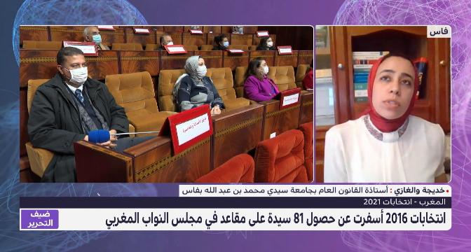 خديجة والغازي تتحدث في عن تمثيلية وحضور النساء في المؤسسة التشريعية